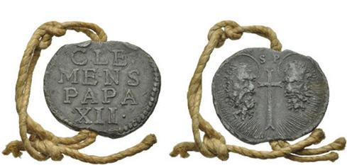 Bulla Papal. Clemente XII. Foto Cortesía de Classical Numismatic Group