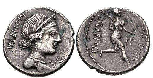 SPAIN, Bolskan (Osca). Circa 150-100 BC. AR Denarius (18mm, 4.08 gm).