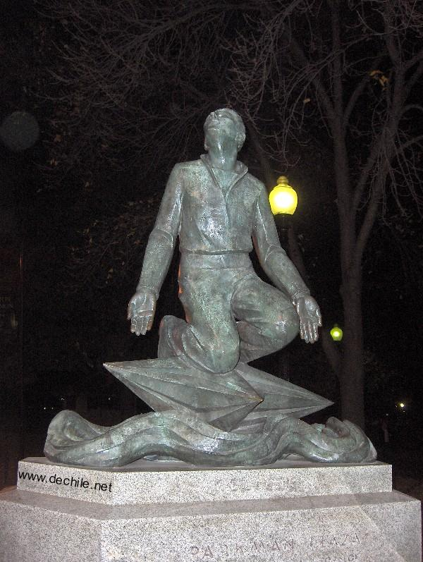 Estatua en Parkman Plaza en Boston, Massachusetts, EEUU